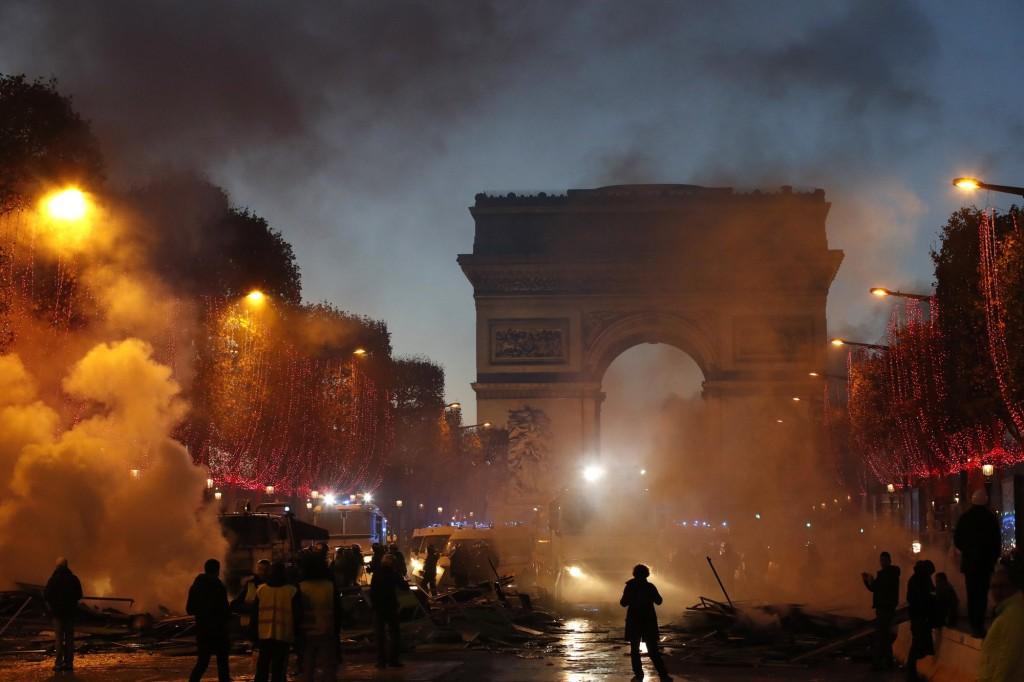 Protests in Paris, Nov. 24