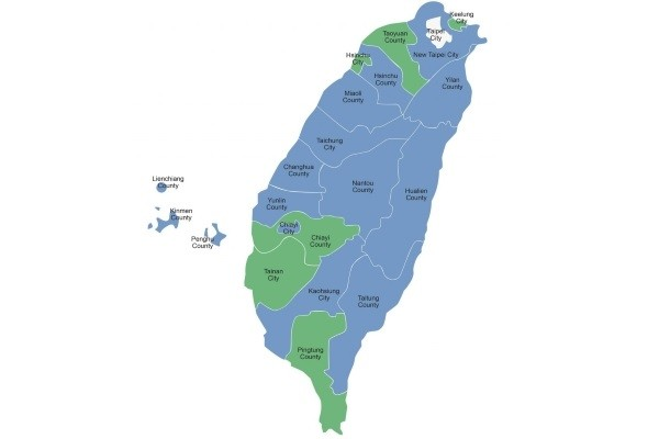 Photo of the Day: Map of Taiwan local electio...   Taiwan News