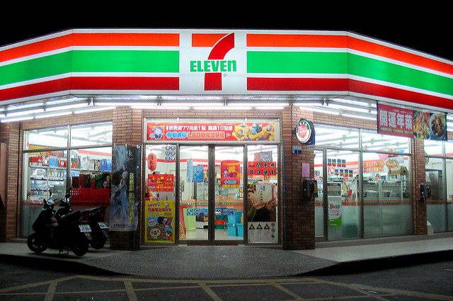 7-Eleven store in Kaohsiung. (Photo by flickr user Yuankei Cheng)