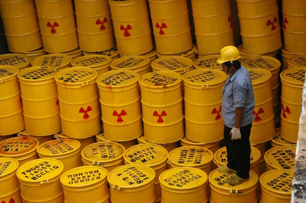 Barrels of nuclear waste on Orchid Island.