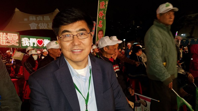 Professor Ming Xia during the elections