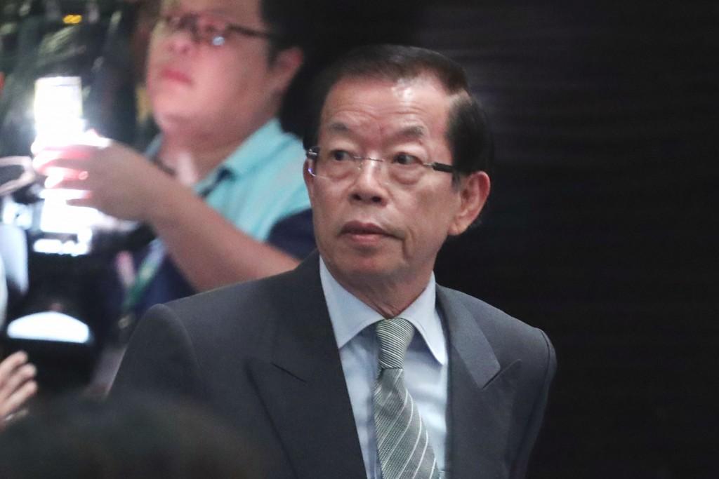 我國駐日代表謝長廷29日在臺北出席第43臺日經濟貿易會議開幕式(照片來源:中央社提供)