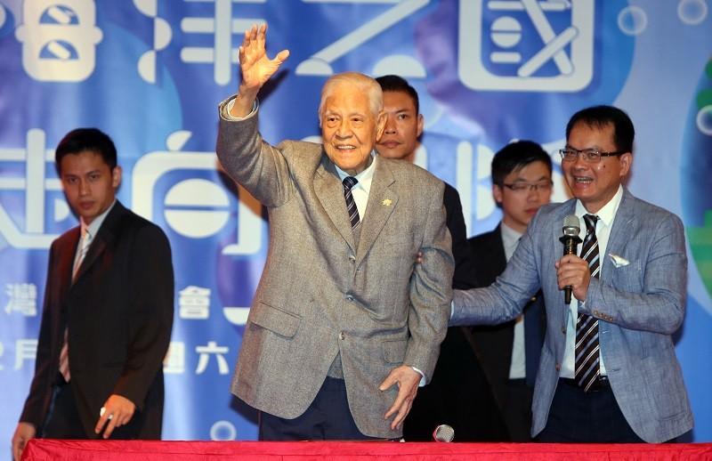 Ex-President Lee Teng-hui at a public appearance in Taiwan last December.