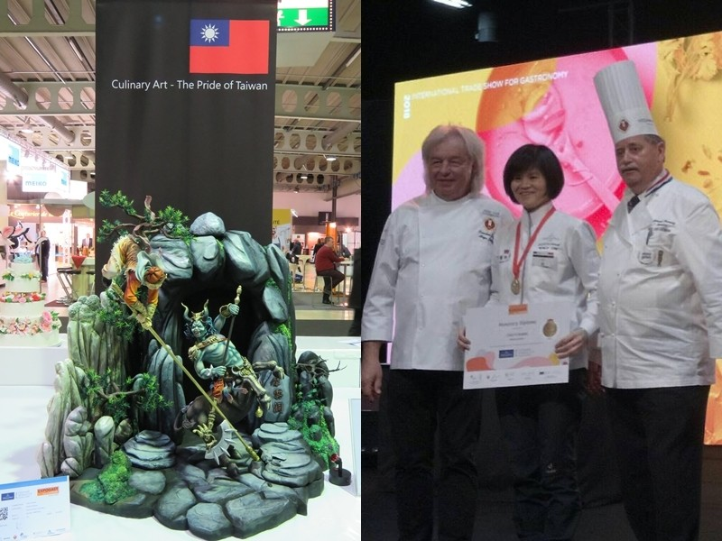Huang Chiu-chi won gold for her Demon Bull King sculpture