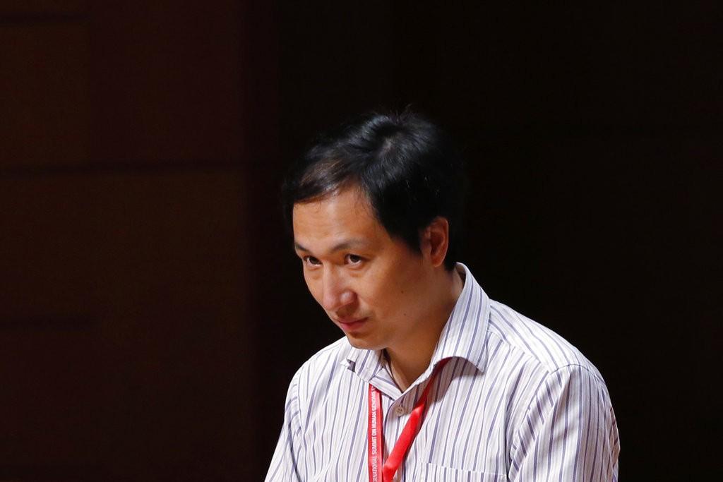 編輯嬰兒基因的中國瘋狂科學家賀建奎(圖片來源/美聯社)