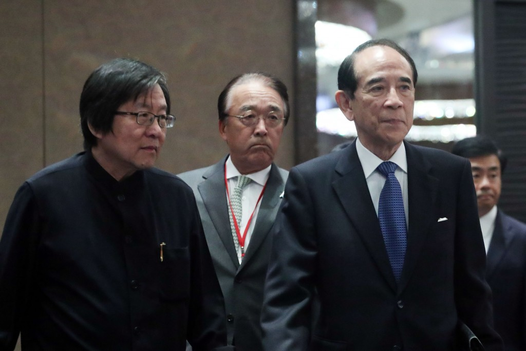 Chiu I-ren (left) and Mitsuo Ohashi (right) led bilateral trade talks that concluded today