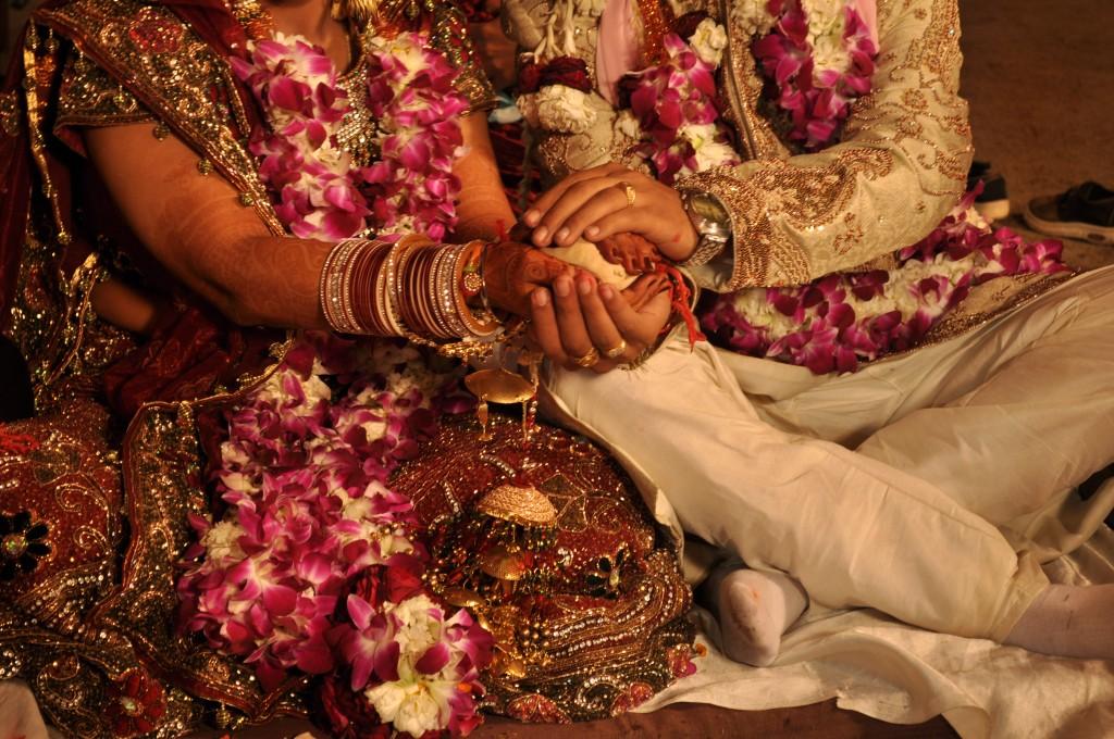 印度婚禮示意圖,非當事人(圖片來源:維基百科 )