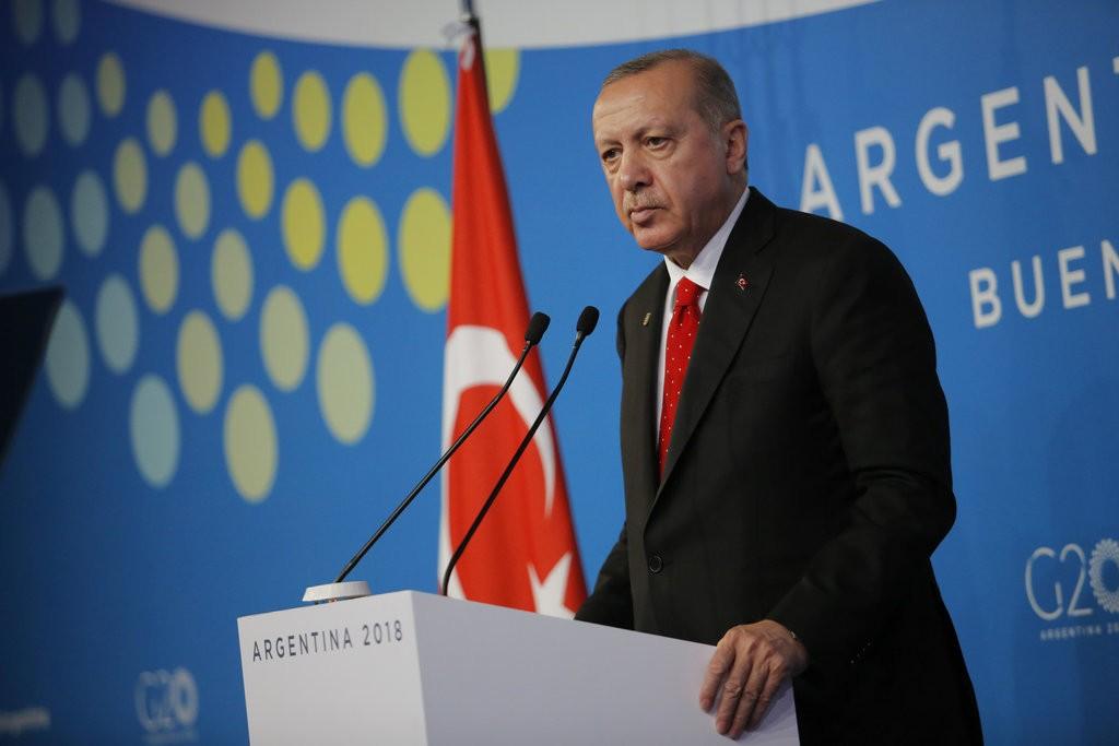 土耳其總統艾爾多安於G20峰會(圖片來源:美聯社)