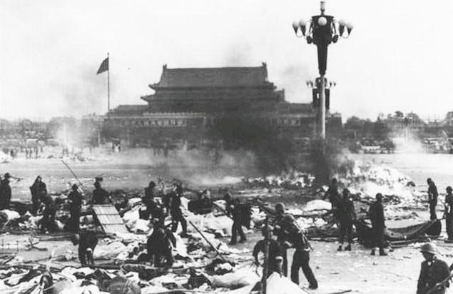 Scene of Tiananmen Massacre. (Image from vienman.com)