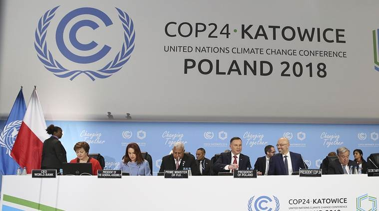 The COP24 climate change conference in Katowice, Poland.