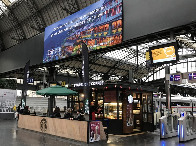 Taiwan promotes tourism with picturesque ads at Paris train station (Photo/CNA)