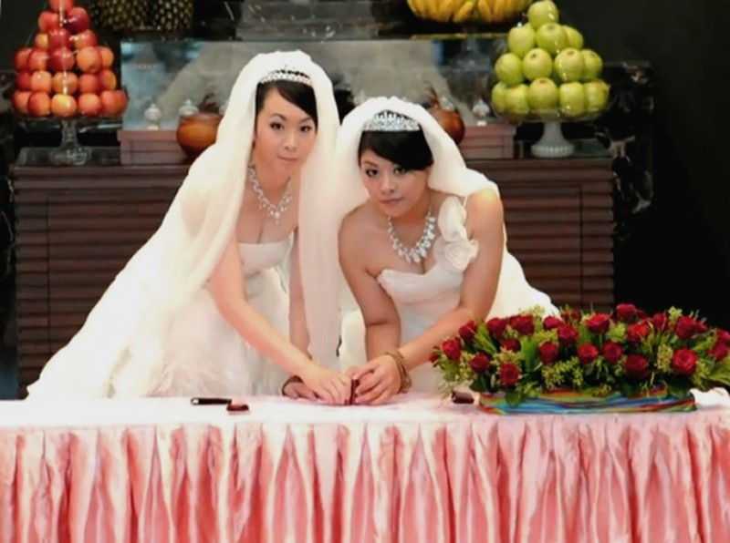Buddhist same-sex wedding in Taiwan.