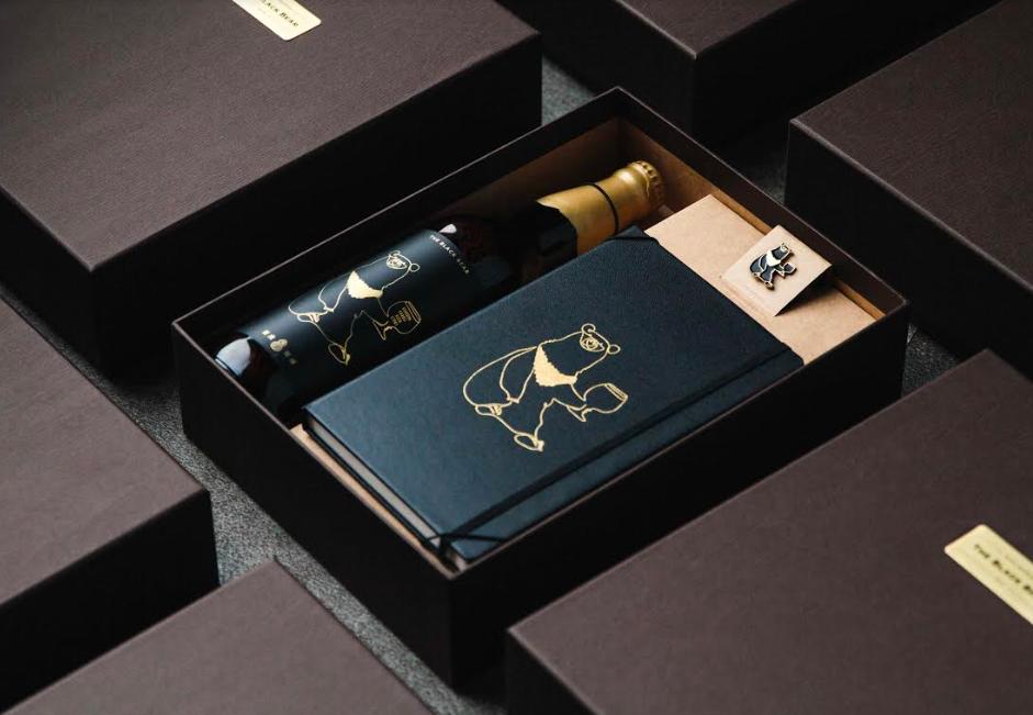 Taihu Brewing launched dark beer gift box titled Taiwan Bear (Taihu Brewing photo)