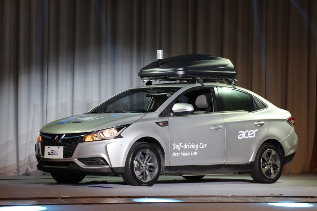 Taiwan's first self-driving automobile (Image from Acer)
