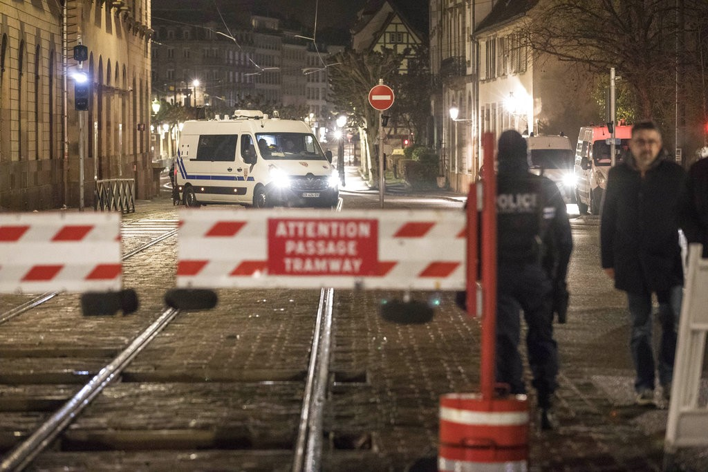 法國都市史特拉斯堡在12月11日晚間8點發生槍擊事件,現全城戒備。(圖片來源:美聯社)