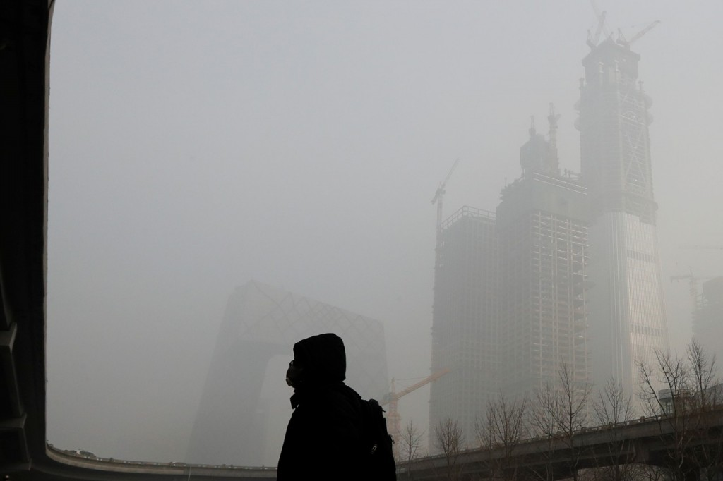 Badly polluted day in Beijing.
