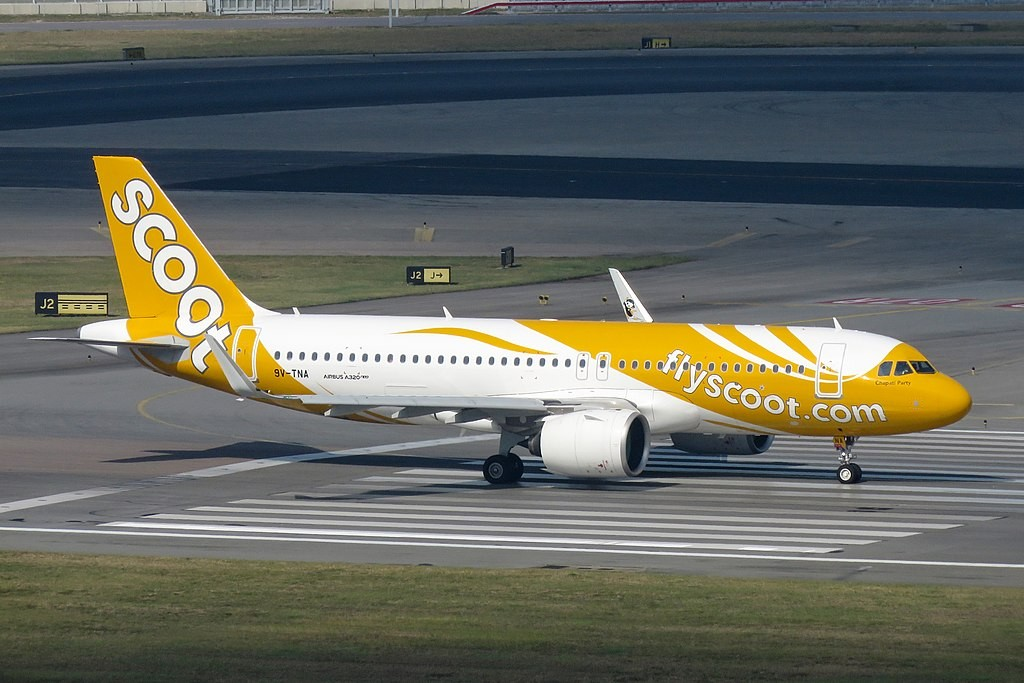 Scoot Airlines jet.