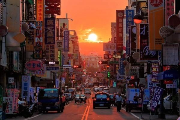 'Manhattanhenge' in Nantou. (Photo from www.ntc.gov.tw)