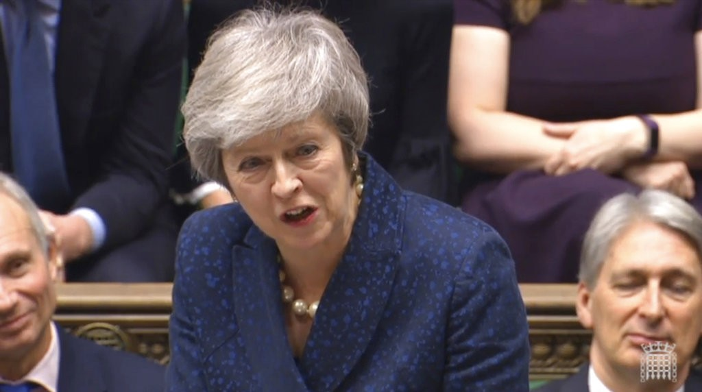 英國首相梅伊(圖片來源:美聯社)