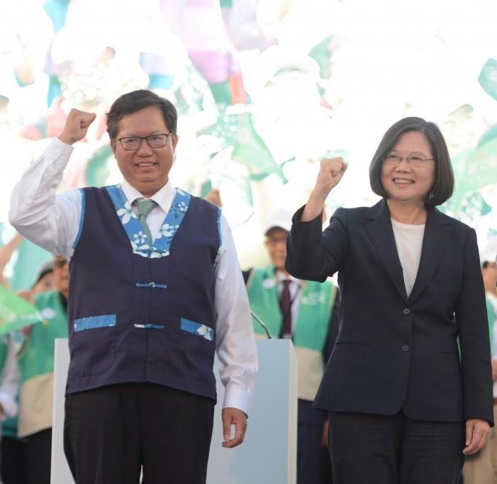 總統蔡英文18日將會見桃園市長鄭文燦(照片來源:資料照片/中央社提供)