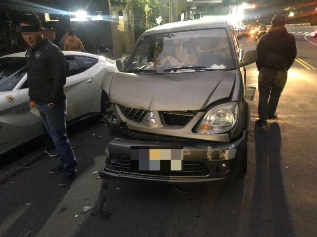Taiwanese deliveryman dozes off, smashes into 4 Ferraris worth NT$50 million