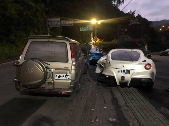 Delivery van (left), Ferrari (right). (Internet image)
