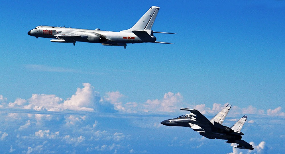 Chinese military aircraft over the East China Sea (file photo)