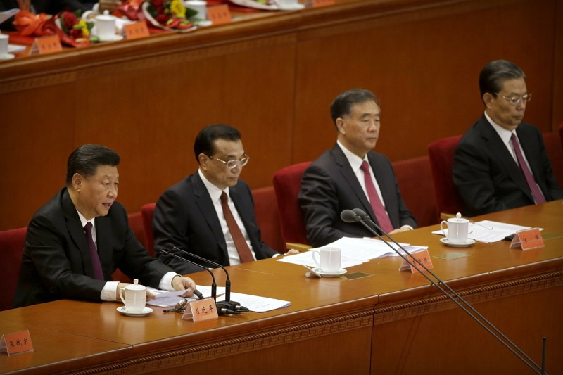 中國改革開放40週年,未見江澤民、胡錦濤(圖/美聯社)