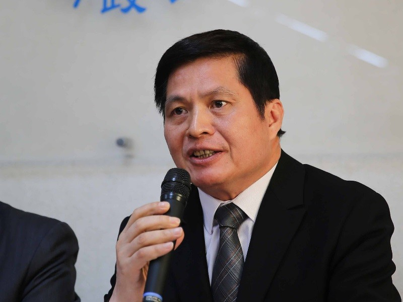 Lin Yen-tien speaking during press conference in Taipei, Dec. 19.