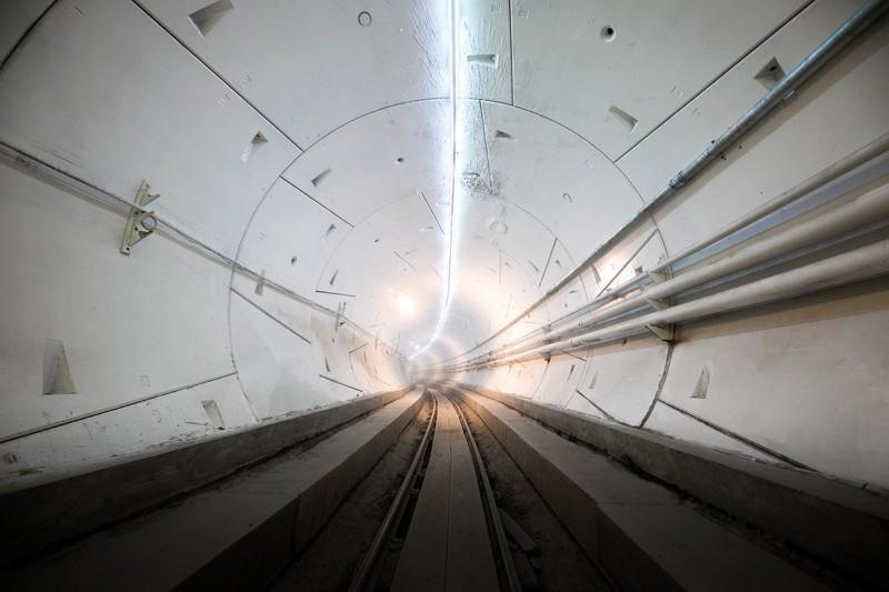 Boring打造的地下快線隧道(圖/馬斯克推特)