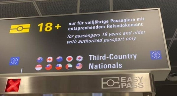 Taiwan among countries eligible for easy pass. (Image from 爆廢公社)
