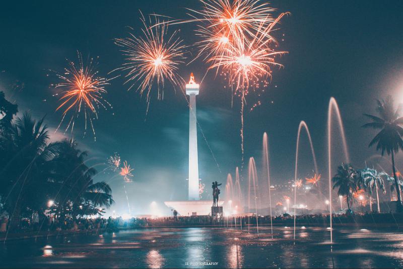 New Year fireworks in Jakarta (Photo/flickr_San San)