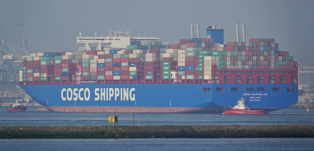 COSCO ship. (Photo from flickr user kees torn)