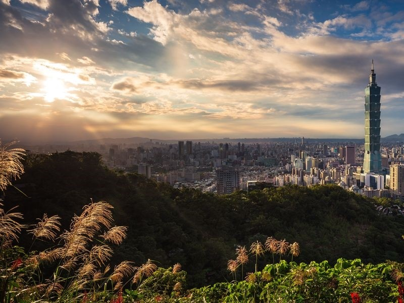 (Image of Taipei skyline from Unsplash)