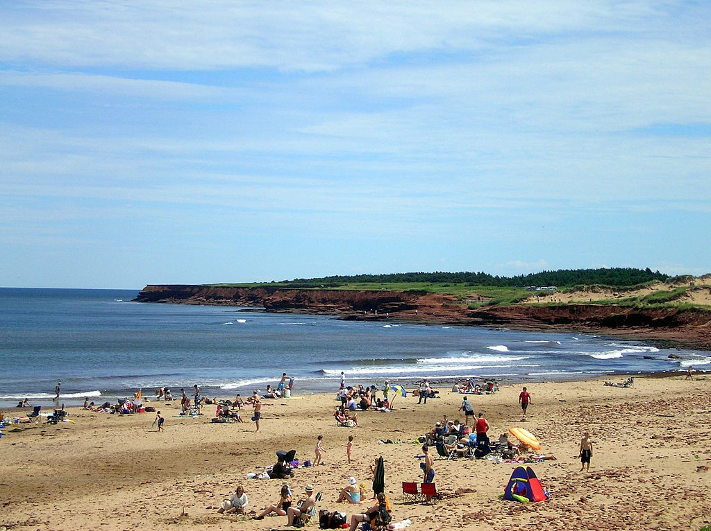Cavendish Beach on Prince Edward Island (Wikipedia image)