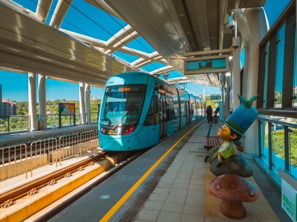 Danhai Light Rail Transit train.