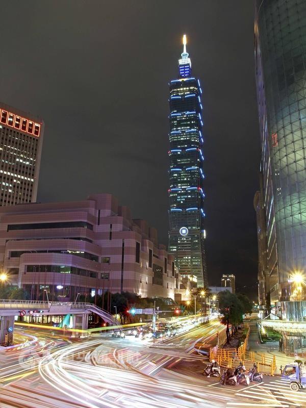 台北101今天晚間突傳火警(圖/ 中央社檔案照)