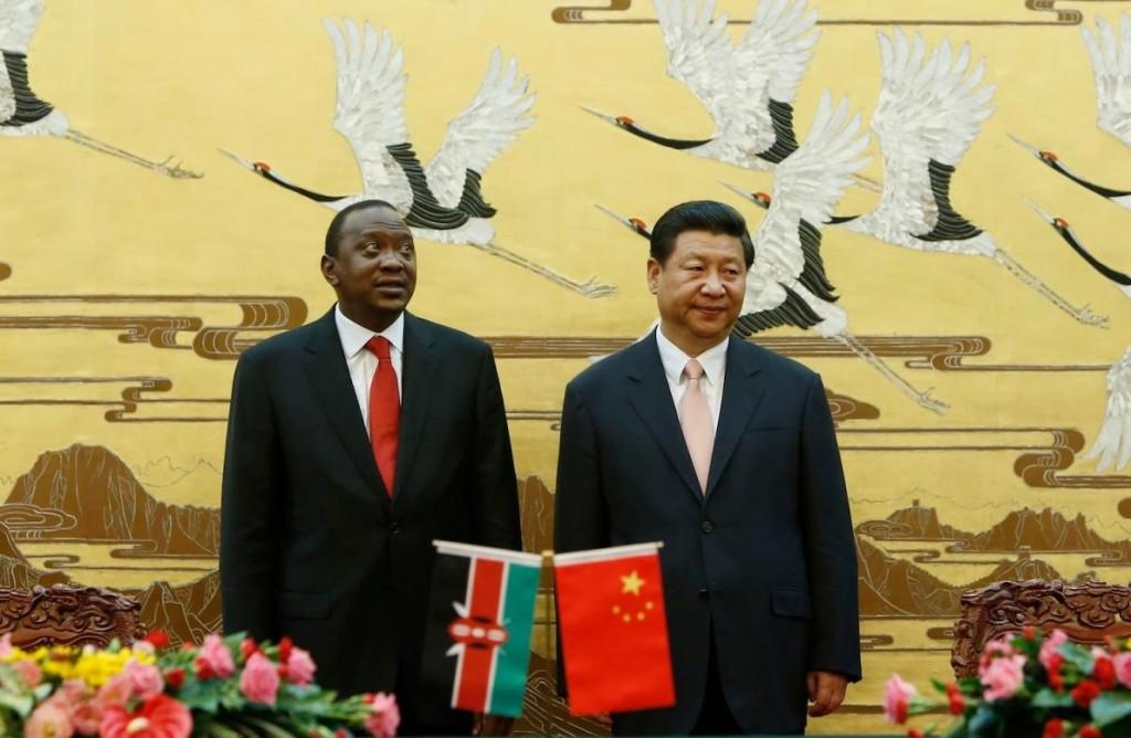 File Photo: Kenyan Pres. Uhuru Kenyatta and Xi Jinping, 2013