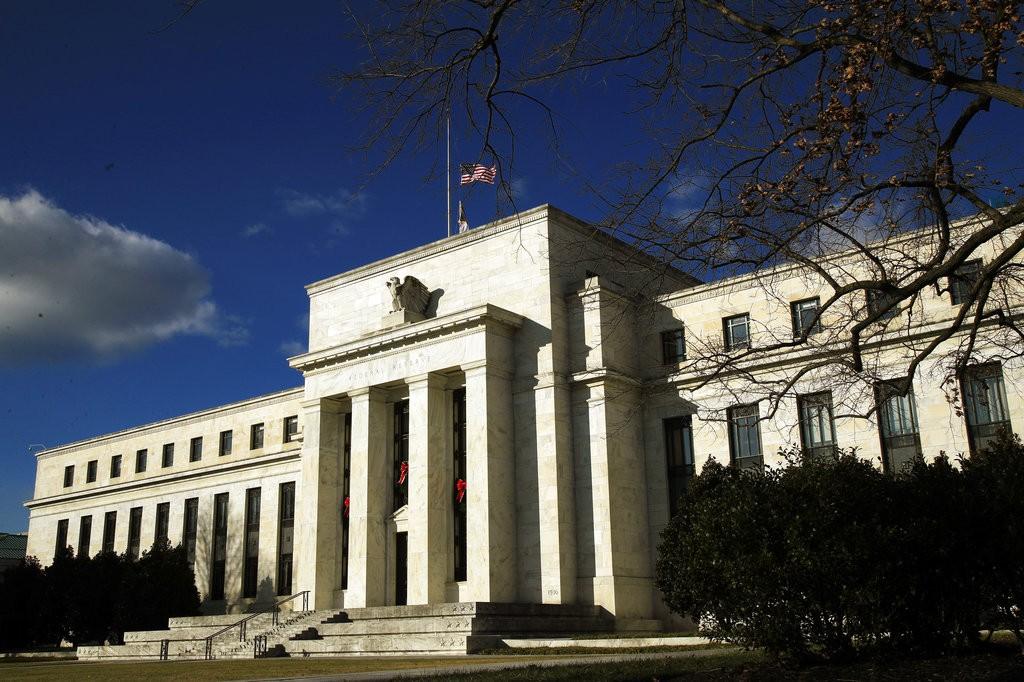 美國聯準會12月24日也跟著暫時關門,無人進出。(圖片來源:美聯社)