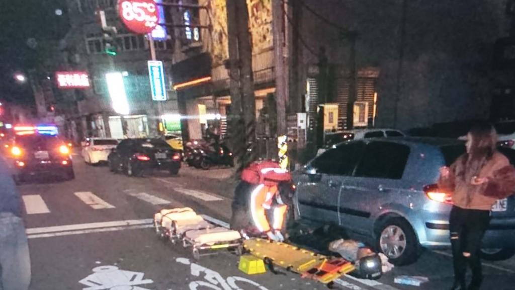 Three men attacked Chiang, one wielding a katana