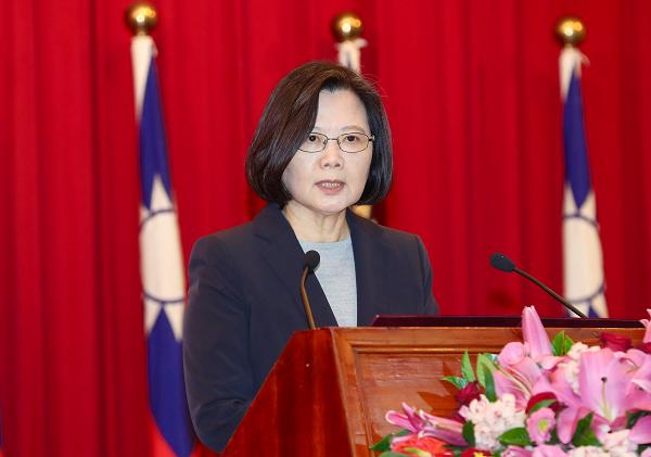 President Tsai giving an address Dec. 25