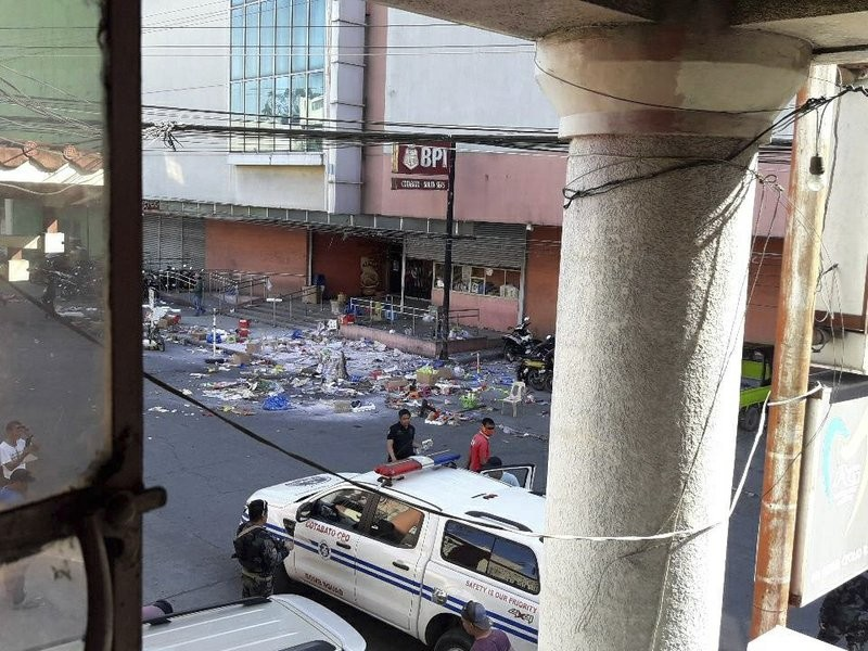 An explosion occurred at the South Seas mall in Cotabato city, Dec. 31