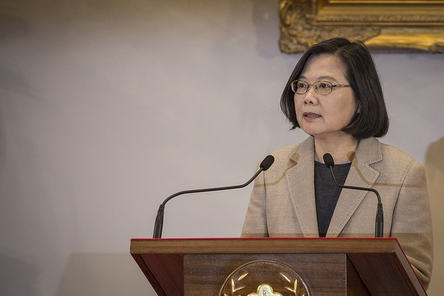 President Tsai Ing-wen addresses the nation on Jan. 1 (Source: Presidential Office)