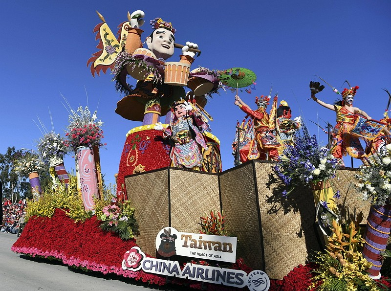 Taiwan's Techno Third Prince float wins International Award in Rose Parade 2019 (AP)