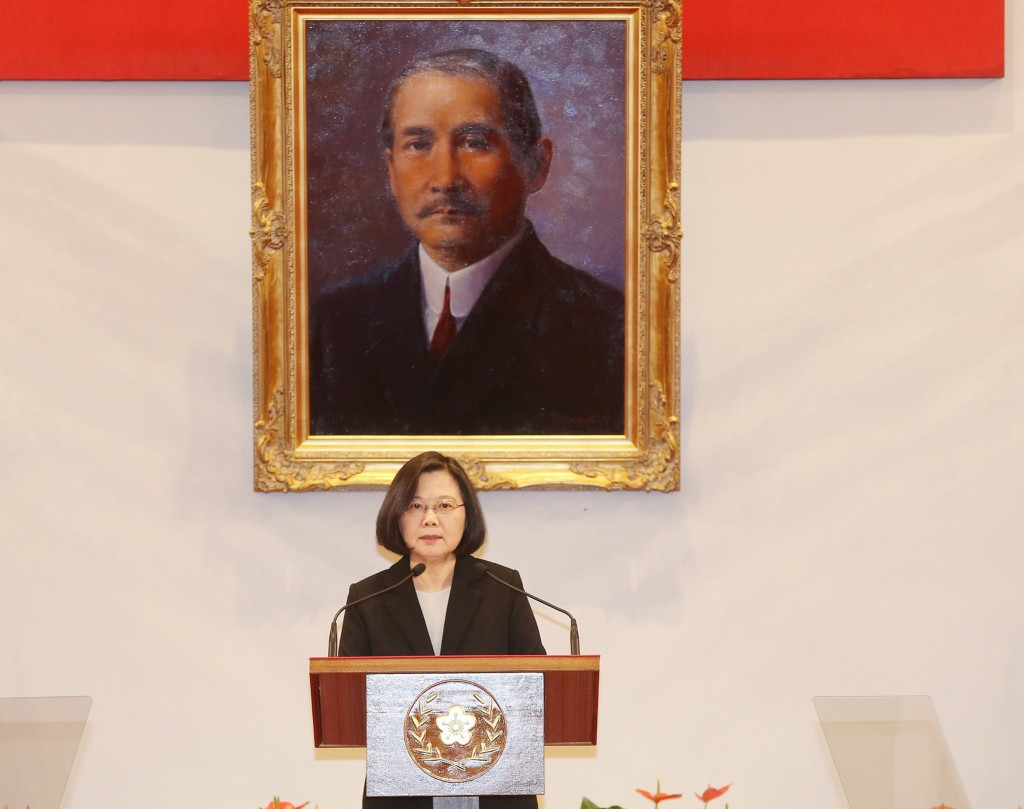 President Tsai Ing-wen responds to the 'one country, two system' framework for Taiwan proposed by China's President Xi Jinping on Jan. 2 (Source: CNA)