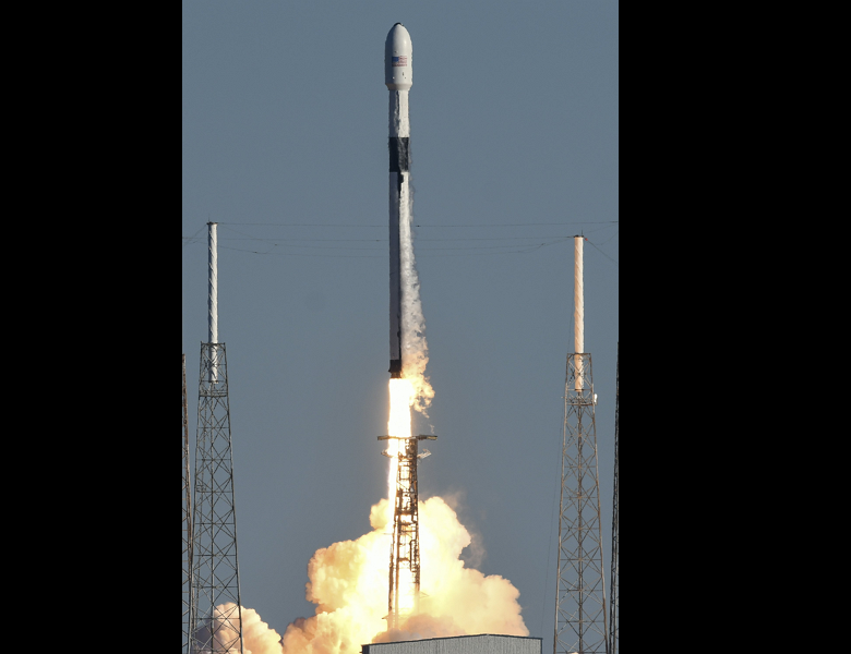 A SpaceX Falcon 9 rocket lifts off (AP)
