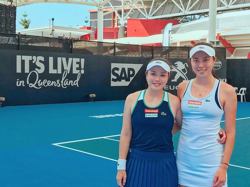 The Chan sisters advance into the semifinals at the Brisbane International tournament in Brisbane, Australia
