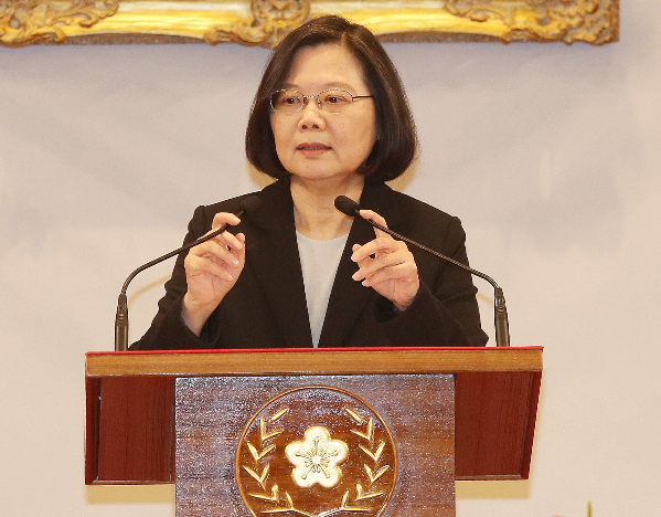 File photo: Tsai responds to Xi's Jan. 2 speech
