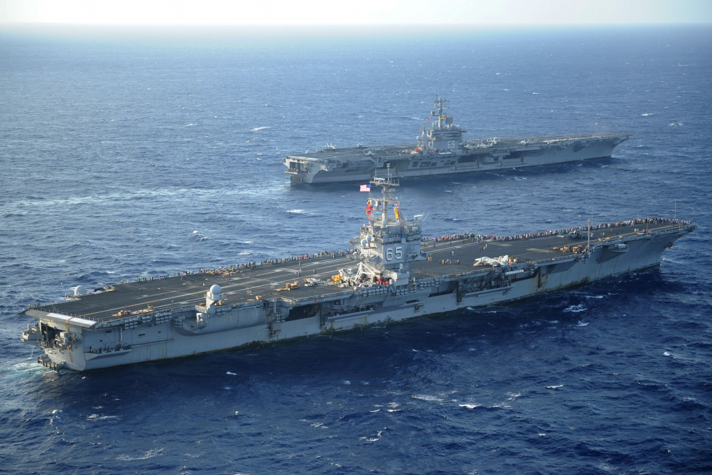 USS Enterprise, USS Dwight D. Eisenhower.