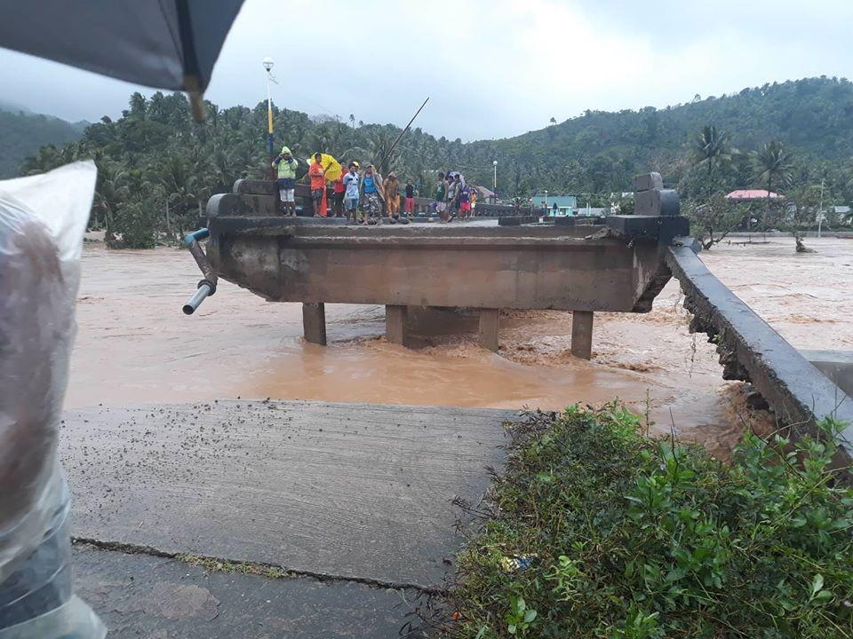 Damaged bridge in Bicol (Photo from PHI gov. Information Agency)